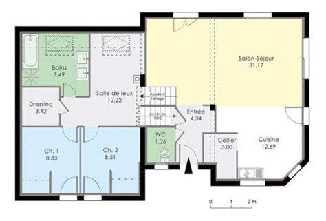 modeles cuisines maison en demi niveaux dé du plan de maison en demi