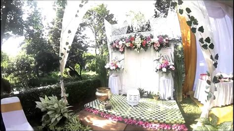tentangarti dekorasi siraman  akad nikah  rumah