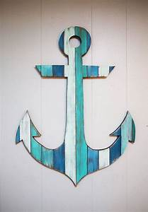 Painted wood anchor quot bathroom anchors and beaches