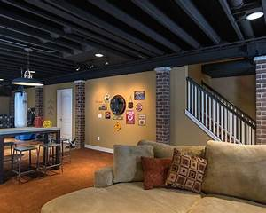 black ceiling basement ideas home style and ideas With finished basement ideas on a budget