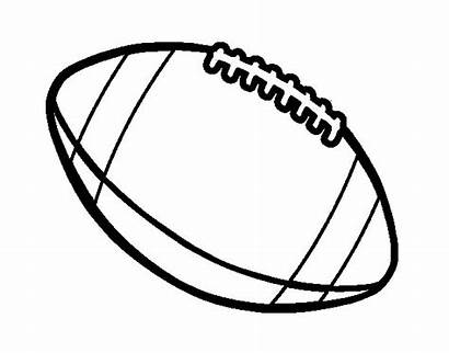 Football Ball American Coloring Sports Pages Coloringcrew