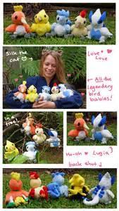 All the babies Legendary Bird Pokemon plush set