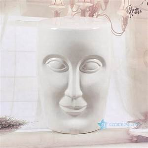 Ryir112 Human Face Shaped Ceramic Patio Stool