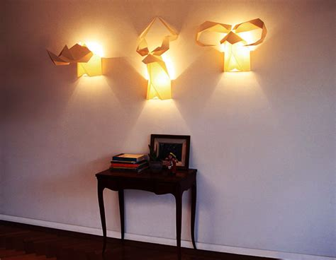 creative lighting idea with origami wall ls and