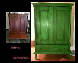 Annie Sloan Wachs : my armoire project before after annie sloan antibes green diy pinterest flure ~ Markanthonyermac.com Haus und Dekorationen