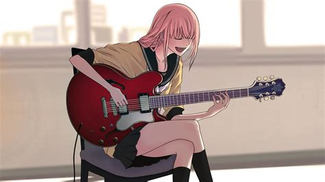 Anime Guitar Wallpaper - vocaloid megurine luka anime guitar hd