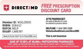 Get fast, free insurance quotes today. Watertree Health Card   DIRECT2MD