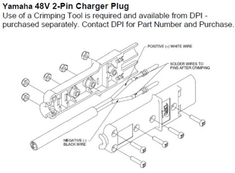 golf cart charger yamaha 2 pin nabson battery pete