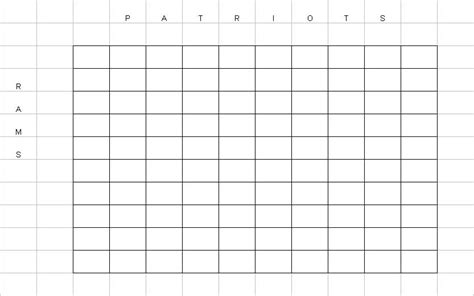 Bowl Box Template by 2015 Football Squares Printable Autos Post