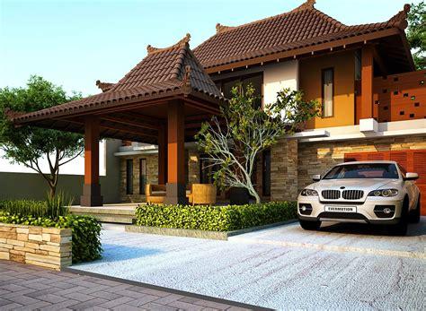 rumah minimalis gaya jawa modern   rumah modern