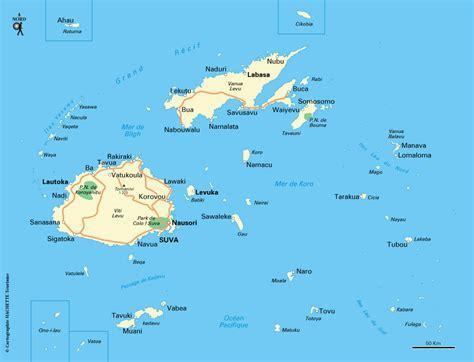 cuisine du monde carte îles fidji plan îles fidji routard com