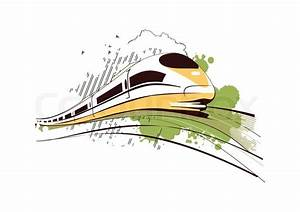 Express train illustration | Stock Vector | Colourbox