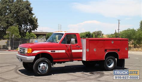 electric truck for sale 1990 ford f350 4x4 9 39 utility rescue truck for sale by