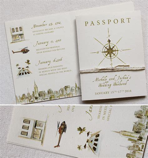 michele  hand painted passport wedding