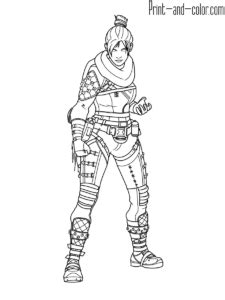 Apex Legends coloring pages | Coloring pages, Character