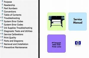 Hp Designjet 4500 Series  4520 Series Printers Service