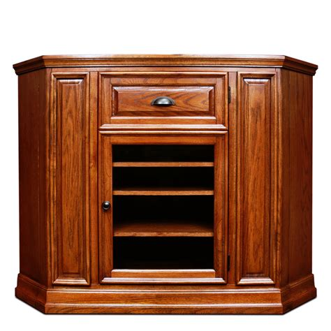 wooden corner tv cabinet furniture bedroom with brown stained wood corner height