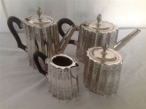 Our beautiful sugar and creamer sets at english tea store are practical, gracious additions to your tea or coffee service set. Silverplate Coffee/ Tea Sugar and Creamer Set $125.00. This is a groovy little set. | Silver ...