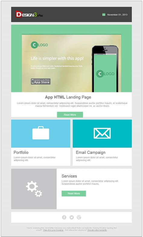 email newsletter templates psd css author