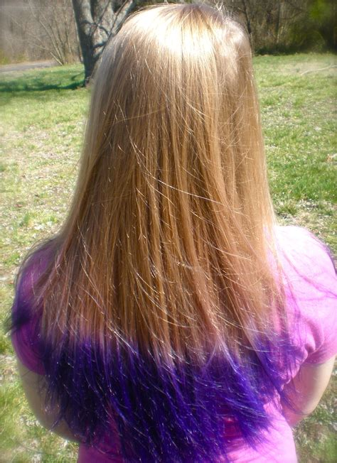 Purple Tips Blonde Purple Tips Hair Blonde Hair With