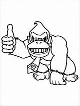 Kong Donkey Coloring Pages Printable sketch template