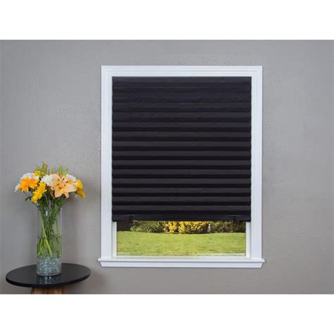 black window blinds redi shade black out paper window shade 36 in w x 72 in
