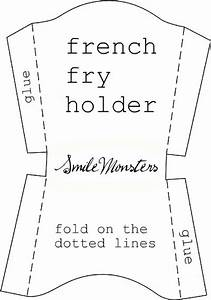 smilemonsters a sweet easter treat With french fries packaging template