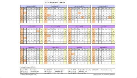 academic calendar template 25 free printable calendar templates word pdf excel formats