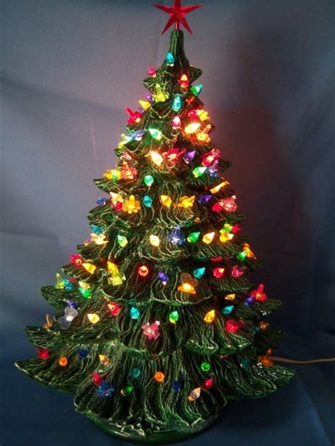 vintage ceramic tree with lights fishwolfeboro