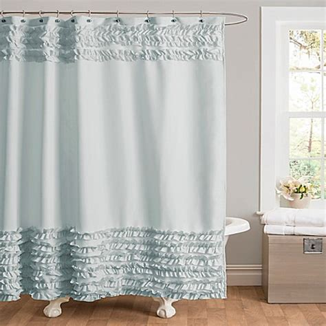 buy skye shower curtain  blue  bed bath