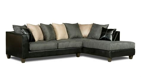 Black And Gray Sofa by Casual Black Gray Microfiber Sectional Sofa W Chaise
