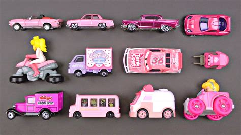 toy monster trucks videos learning pink street vehicles for kids cars and trucks