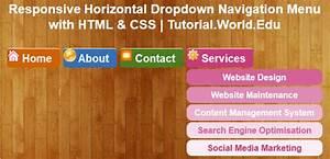 Create Responsive Horizontal Dropdown Navigation Menu With