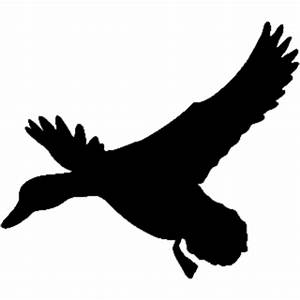 Silhouette Duck Landing Decal ST2010B #7 Waterfowl ...