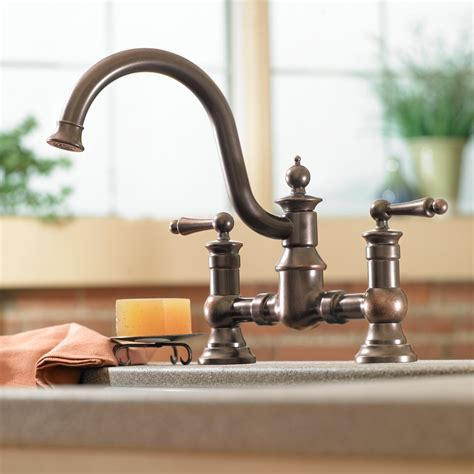 rubbed bronze kitchen faucets moen s713orb waterhill two handle high arc kitchen faucet