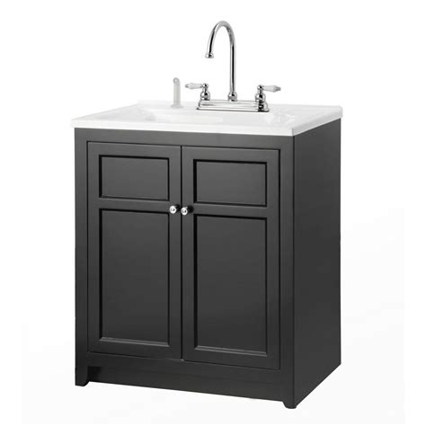 utility sink cabinet foremost conyer 30 in laundry vanity in black and premium