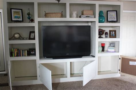 diy built in entertainment center living room renovation with diy entertainment center for 8747