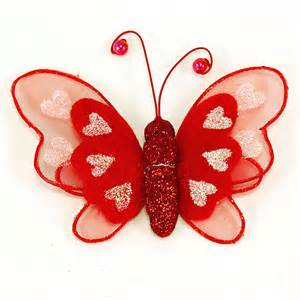 keychain wedding favors maple craft glitter heart butterflies 10 cm x 7 cm pack