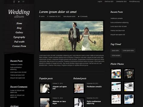 20 Best Wedding Website Templates (csshtml & Wordpress