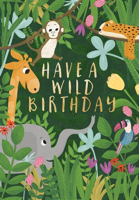 jungle jam birthday card   island