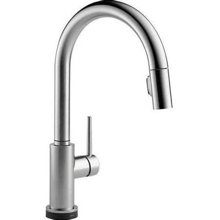 delta trinsic touch activated kitchen faucet  pull
