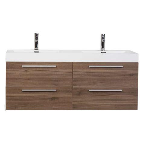 modern double sink vanity double bathroom vanity set with drawers in walnut tn b1380
