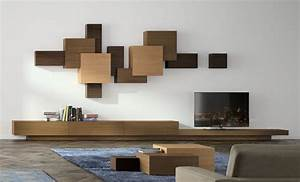 meuble tv mural 2016 moderne elegant et peu encombrant With meubles de rangement salon 3 meuble de salon italien design france