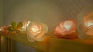 Guirlande Lumineuse Fleur : diy id e lumineuse guirlande de fleurs chez lisette ~ Teatrodelosmanantiales.com Idées de Décoration
