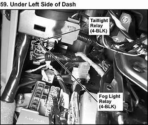 2004 Acura Mdx  The Brake Lights  Fuse Box  Diagram  Under