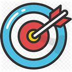 Objective Icon Target Bullseye Clipart Research Aim
