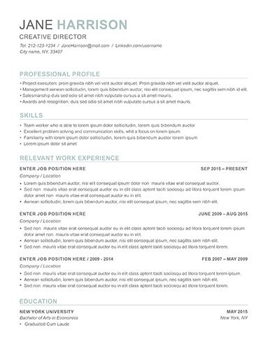 resume exles for seekers in any industry limeresumes