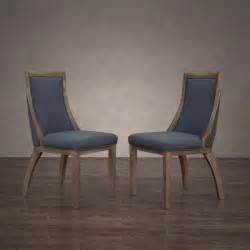 park avenue austria navy linen dining chair set of 2