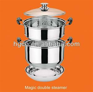 Double layer Stainless steel magic food steamer pot, View ...