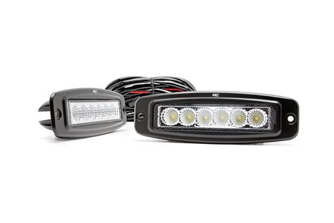 6 inch flush mount led light bar pair 70916